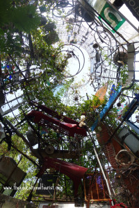 inside room of Austin's Cathedral of Junk