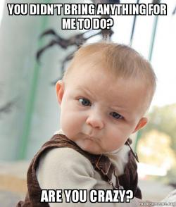 skeptical baby meme, mistakes traveling families make, www.theeducationaltourist.com
