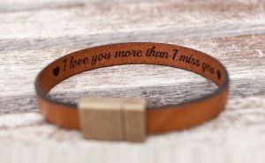 Personalized secret message leather bracelet from BeGenuine etsy shop, Gift Ideas for the Lady Traveler, www.theeducationaltourist.com