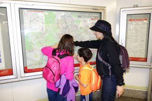 Improve reading skills by reading the subway map.