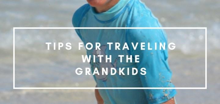 happy boy on the beach, travel with grandkids