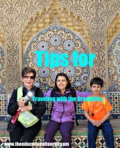 Grandmother with granddaughter and grandson in Morocco, Tips for Family Vacations with Grandchildren, www.theeducationaltourist.com