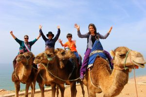 The Educational Tourist and family, riding camels, Swim with dolphins, www.theeducationaltourist.com