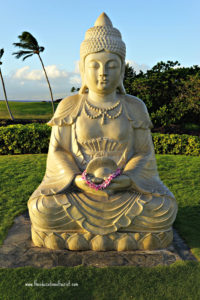 Buddha statue, Hilton Waikaloa Village, www.theeducationaltourist.com