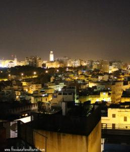 Tangier's Kasbah at night, La Maison Blanche, www.theeducationaltourist.com