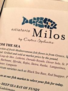 Milos menu, Milos, www.theeducationaltourist.com