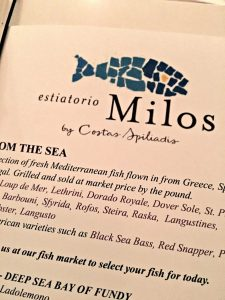 Milos menu, Milos, www.theeducationaltourist.com
