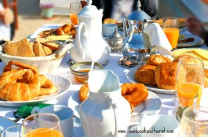 Morocco breakfast, La Maison Blanche, www.theeducationaltourist.com