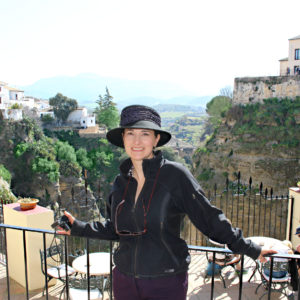 The Educational Tourist at the gorge in Ronda, Hotel Don Miguel, www.theeducationaltourist.com