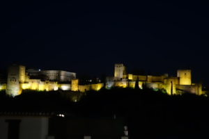 Alhambra at night, Hotel Landazuri, www.theeducationaltourist.com