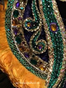 Close up Mardi Gras costume, Presbytere Mardi Gras, www.theeducationaltourist.com