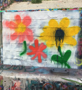 spray painted flowers on white background, Hope Outdoor Gallery, www.theeducationaltourist.com