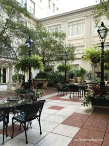 courtyard at the Ritz, Ritz - Carlton, New Orleans, www.theeducationaltourist.com