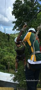 boy on zip line, Original Virgin Canopy Zip Line, www.theeducationaltourist.com
