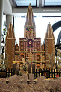 Jackson Square in gingerbread in New Orleans hotel lobby, New Orleans Christmas decorations, www.theeducationaltourist.com