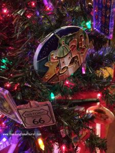 closeup of Christmas ornaments on lit tree, souvenirs, www.theeducationaltourist.com