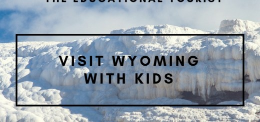 snow scene in wyoming, visit wyoming with kids