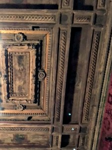 carved wooden ceiling, Morgan Library, NYC - Visit with KIDS, www.theeducationaltourist.com