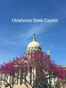 Ok state capitol behind redbud tree, OK State Capitol Building - Visit with KIDS, www.theeducationaltourist.com