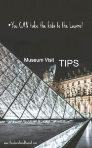 glass pyramid in front of Louvre, take kids to a museum