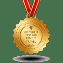 Blogger award - Top 100 Family Travel Blogs