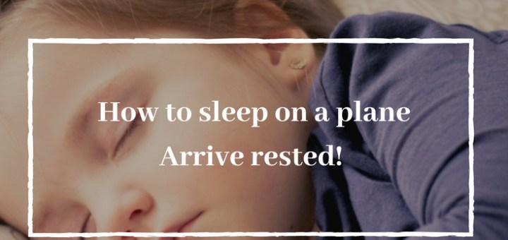 child sleeping how to sleep on a plane