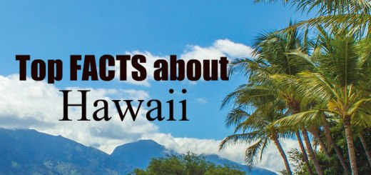 beach in Hawaii with the words: top facts about hawaii, www.theeducationaltourist.com