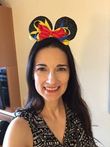 The Educational Tourist wearing Mickey Mouse ears on a Disney cruise