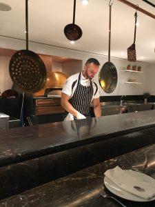 Pizza Chef at restaurant in Semiramis hotel in Kifissia Greece