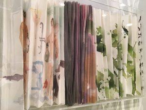 folded paper art in restroom in Semiramis hotel in Kifissia Greece