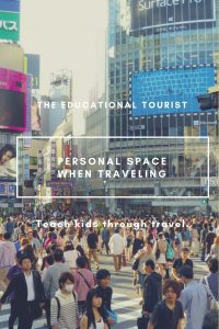crowded street in japan, personal space when traveling