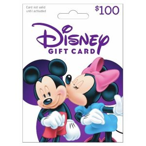 Disney Gift Card with Minnie Mouse kissing Mickey Mouse - photo from Bjs warehouse