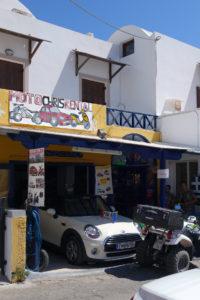 Moto Chris car rental in Fira, Santorini