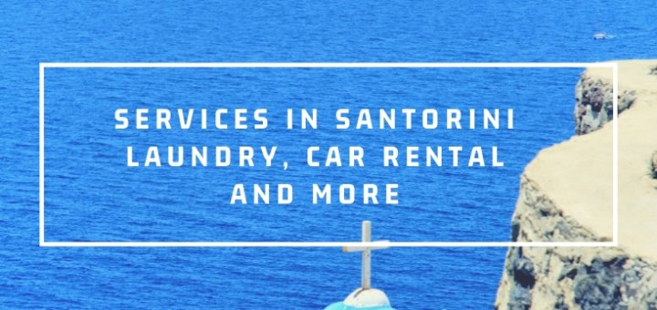 services in santorini, island view