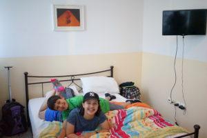 smiling kids in hostel