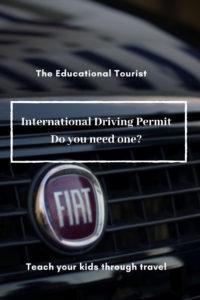 FIAT grill, international driving permit