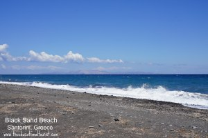 black sand beach in Santorini, Greece, www.theeducationaltourist.com