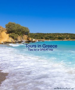 Beach in Crete that says Tours in Greece: Tips for a GREAT trip