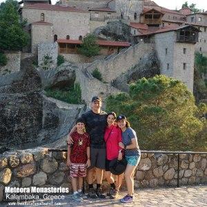 Family at Meteora monastery, Meteora Monastery, Kalambaka, Greece, www.theeducationaltourist.com