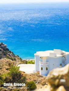house on the beach of Crete, Greece