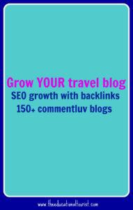 Grow travel blog, commentluv travel blogs,