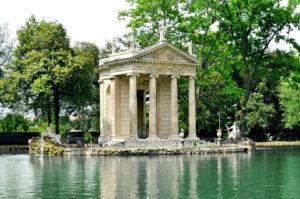 Villa Borghese Gardens water scene