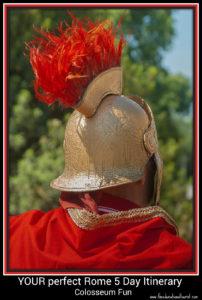 gladiator, rome 5 day itinerary