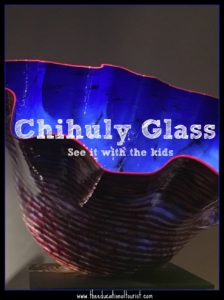 chihuly glass blue bowl