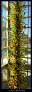 chihuly glass tower OKC museum of art