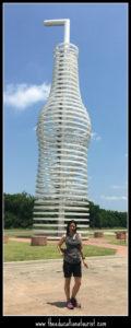 giant soda bottle statue, the educational tourist