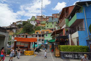 comuna 13 colorful homes