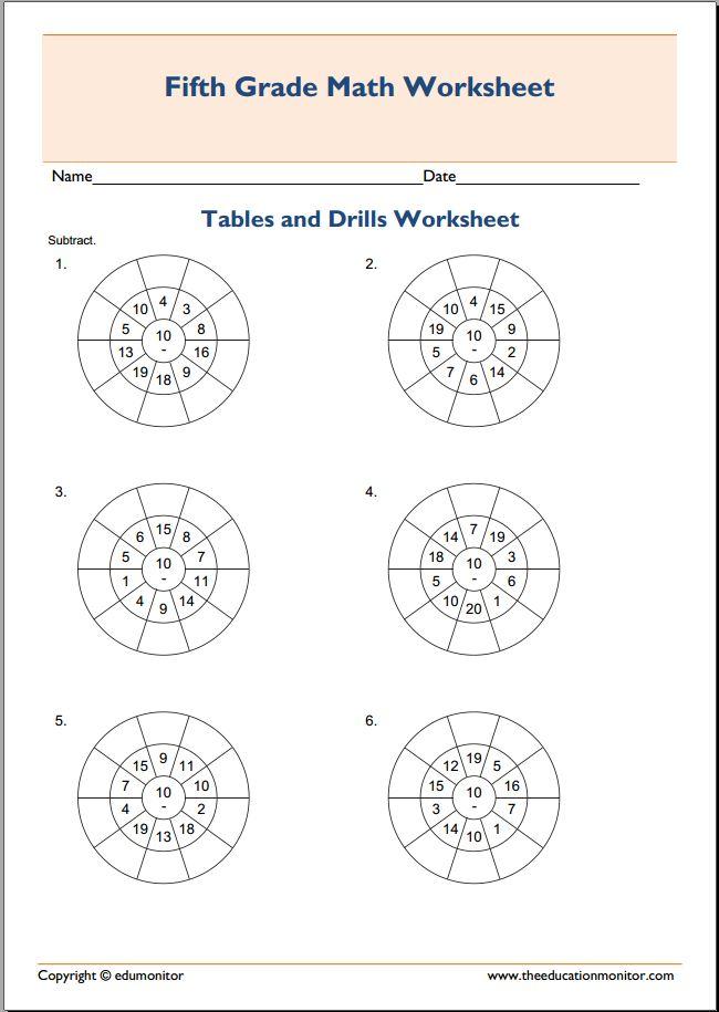 Multiplication Target Circles Worksheet Archives