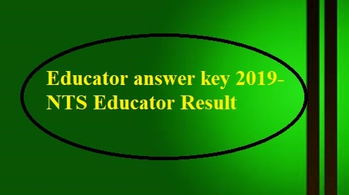 nts result by cnic 2019, Nts Educators answer key 2019