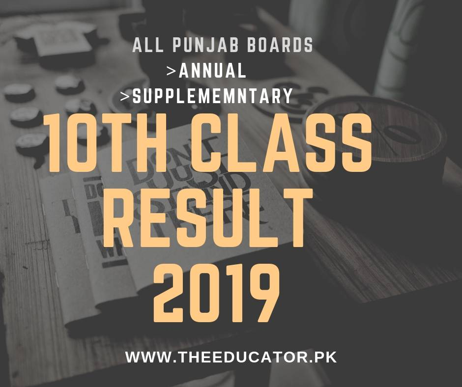 Matric Result 2019-10th Class Result 2019